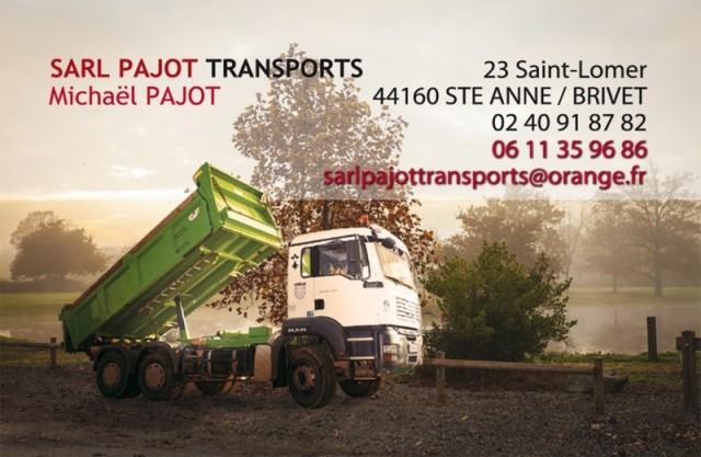 Carte de viste SARL Pajot