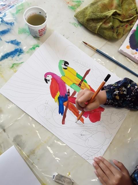 Atelier graine  d'artistes - Crédit photo Valérie Bonduelle