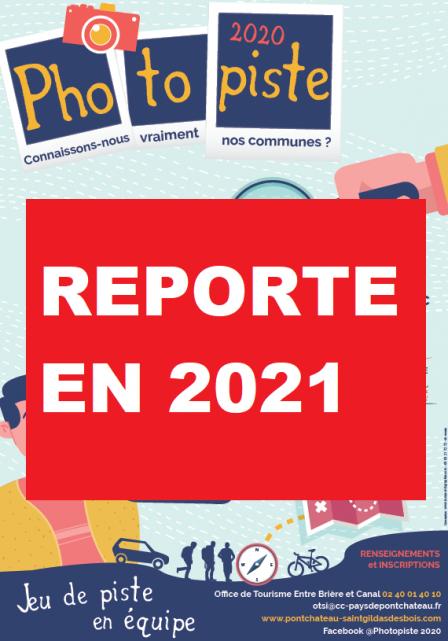 Photopiste Reporté en 2021