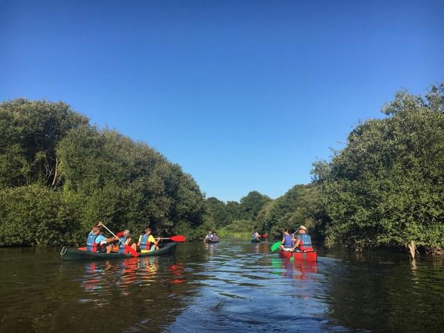 Promenade en canoës sur le Brivet