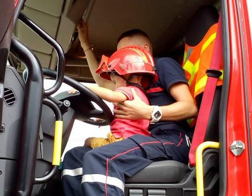 Visite caserne de pompiers