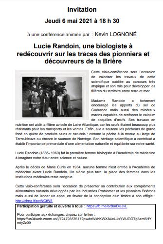 Conférence sur Lucie Randoin